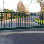 Sliding gate installed at Lakeside Lodge Pidley