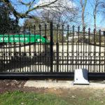 Sliding gate installed in Burwell