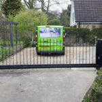 Sliding gate installed in Hemingford Cambrigdeshire
