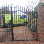 Double gates with single side gate installed in Newmarket