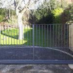 Sliding gate in Burwell