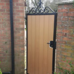 Single gate with synthetic wood insted, St Neots